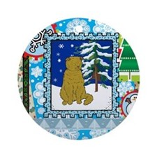 Scrapbook Scottish Fold Christmas Ornament (Round)