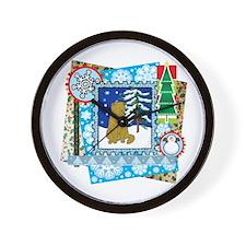 Scrapbook Scottish Fold Christmas Wall Clock