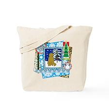 Scrapbook Scottish Fold Christmas Tote Bag