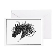 Horse Head Art Greeting Card