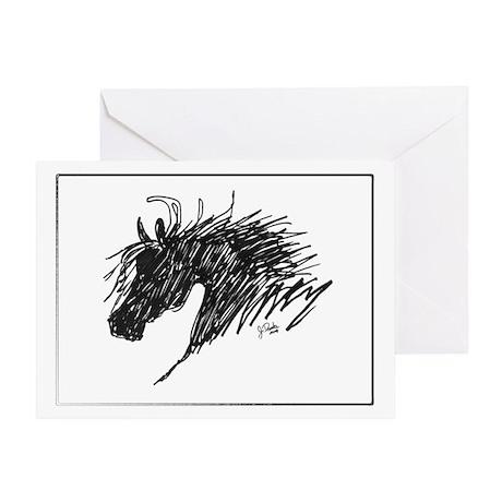 Horse Head Art Greeting Card