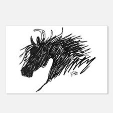 Horse Head Art Postcards (Package of 8)