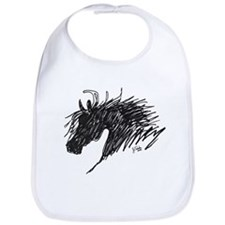 Horse Head Art Bib