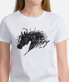 Horse Head Art Women's T-Shirt