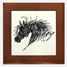 Horse Head Art Framed Tile