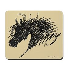 Horse Head Art Mousepad