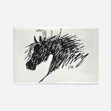 Horse Head Art Rectangle Magnet