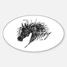 Horse Head Art Oval Decal