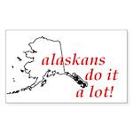 Alaskans Do It A Lot Rectangle Sticker 50 pk)