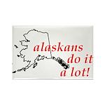 Alaskans Do It A Lot Rectangle Magnet (100 pack)