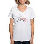 Alaskans Do It A Lot Women's V-Neck T-Shirt