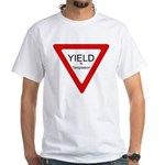 Yield to Temptation White T-Shirt