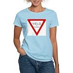 Yield to Temptation Women's Pink T-Shirt
