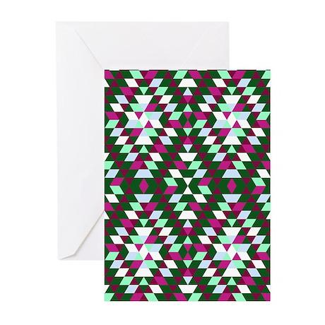 Native Diamond Triangle Greeting Cards (Pk of 10)