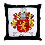 Mosca Family Crest Throw Pillow