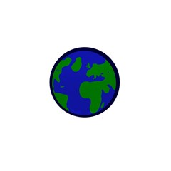 Earth Mini 1 inch Button