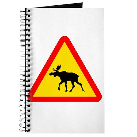 Moose Crossing Sign Journal