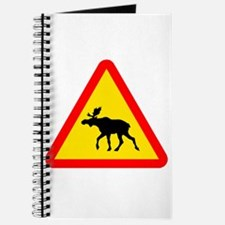Moose Crossing Sign Journal