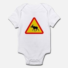 Moose Crossing Sign Infant Bodysuit