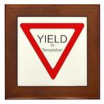 Yield to Temptation Framed Tile