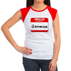Hello my name is German Women's Cap Sleeve T-Shirt
