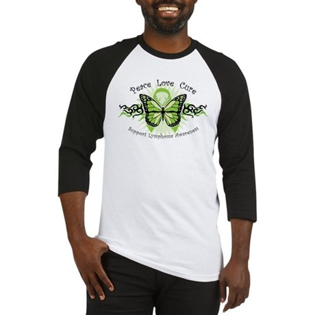 Lymphoma Tribal Butterfly Baseball Jersey