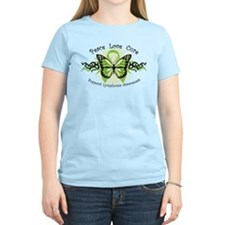 Lymphoma Tribal Butterfly T-Shirt