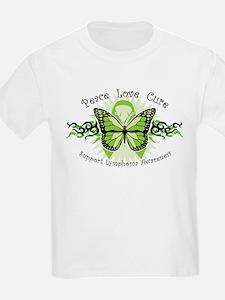 Lymphoma Tribal Butterfly T-Shirt