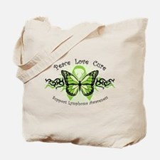 Lymphoma Tribal Butterfly Tote Bag