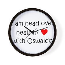 Unique I heart oswaldo Wall Clock