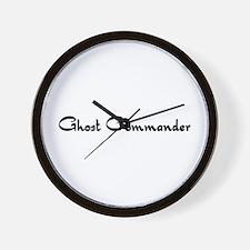 Ghost Commander Wall Clock