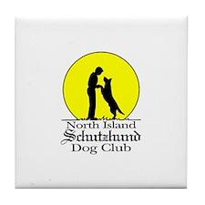 North Island Schutzhund Dog C Tile Coaster