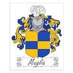 Muglia Family Crest Small Poster