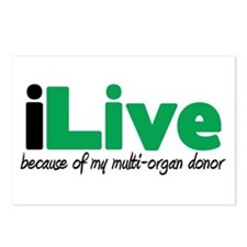 iLive Multi Organ Postcards (Package of 8)