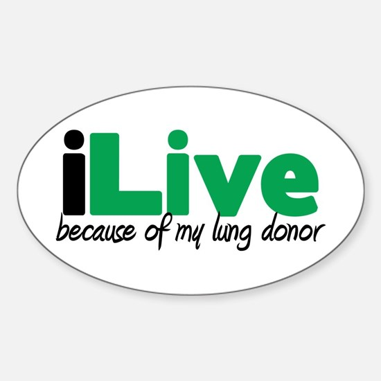 iLive Lung Oval Decal