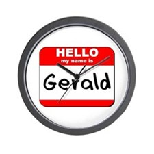 Hello my name is Gerald Wall Clock