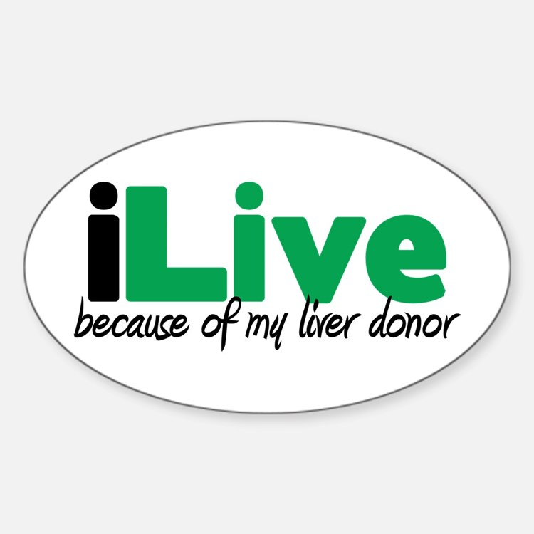 iLive Liver Oval Decal