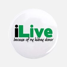 "iLive Kidney 3.5"" Button (100 pack)"