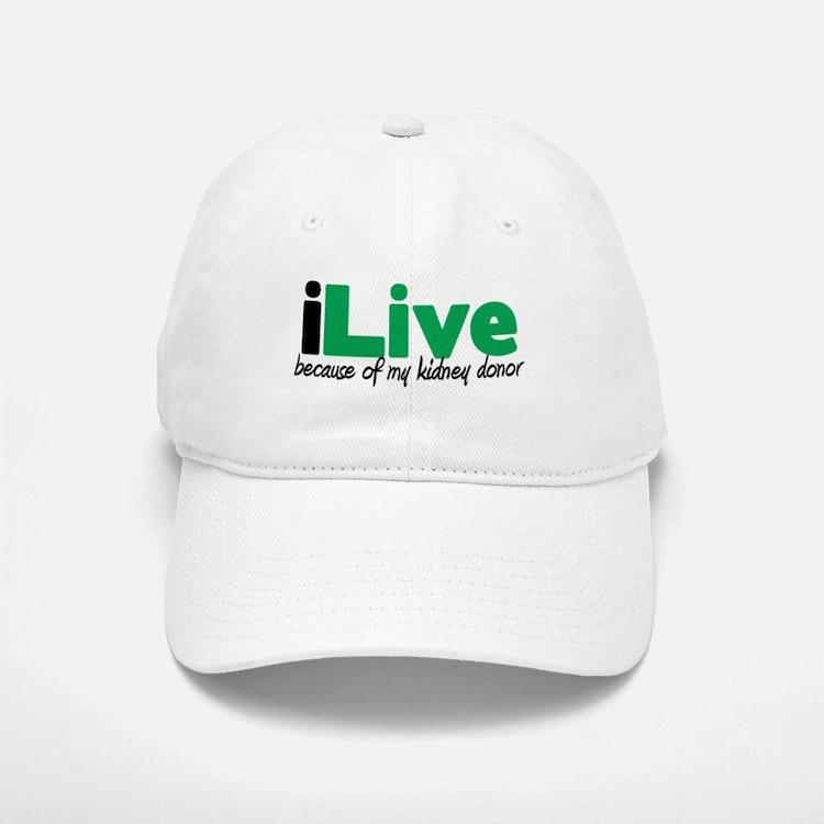 iLive Kidney Baseball Baseball Cap