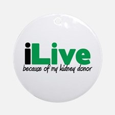 iLive Kidney Ornament (Round)