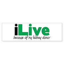 iLive Kidney Bumper Bumper Sticker