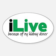 iLive Kidney Oval Sticker (10 pk)