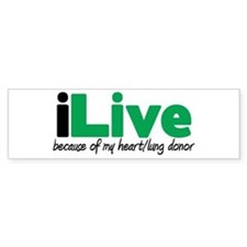 iLive Heart/Lung Bumper Bumper Sticker