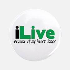 """iLive Heart 3.5"""" Button"""
