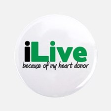 "iLive Heart 3.5"" Button (100 pack)"