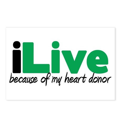 iLive Heart Postcards (Package of 8)