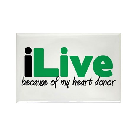 iLive Heart Rectangle Magnet (100 pack)