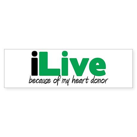 iLive Heart Bumper Sticker