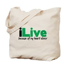 iLive Heart Tote Bag