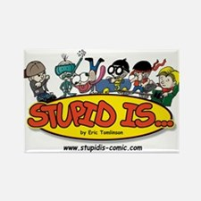 Stupid Is ... Logo Rectangle Magnet